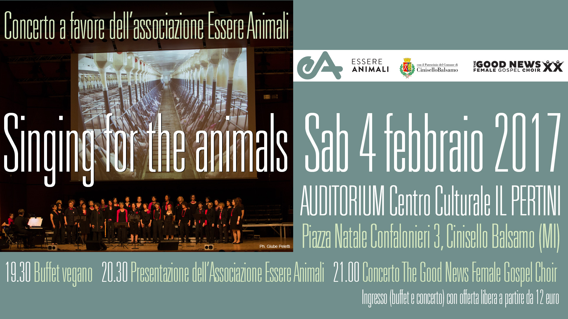 Singing for the Animals - The Good News FGC in concerto!